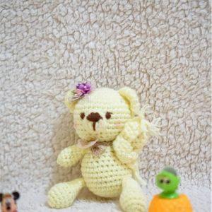Boneka Rajut Amigurumi sweet bear menjadi alternatif hadiah ulang tahun dan pernikahan. Boneka rajut beruang murah